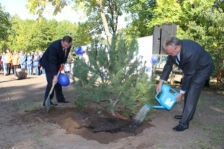 Tree planting in Pskov marking the European Cooperation Day 2013 in Russia