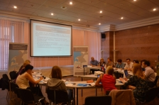 Auditors of Russian partners holding consultations with JTS staff in St.Petersburg