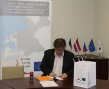 Grant contract for 271140,53 euro of the Programme co-financing countersigned by the JMA of the Programme and Limbazi Municipality (Latvia).